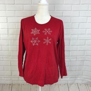 Mercer Street Studio Womens Christmas Shirt Red